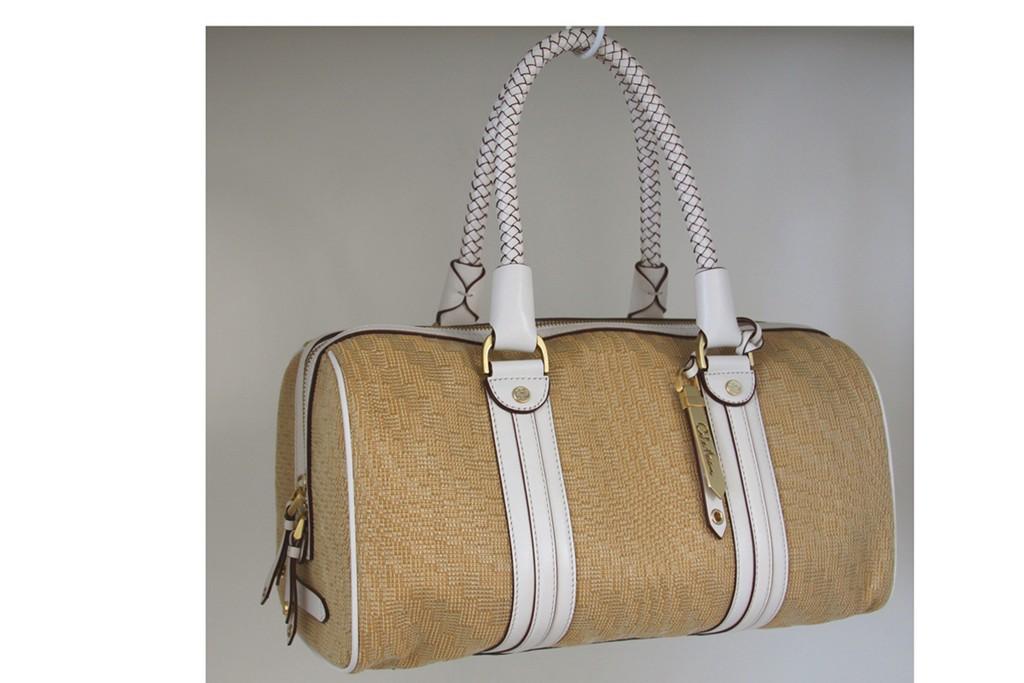 Designer Straw Handbag