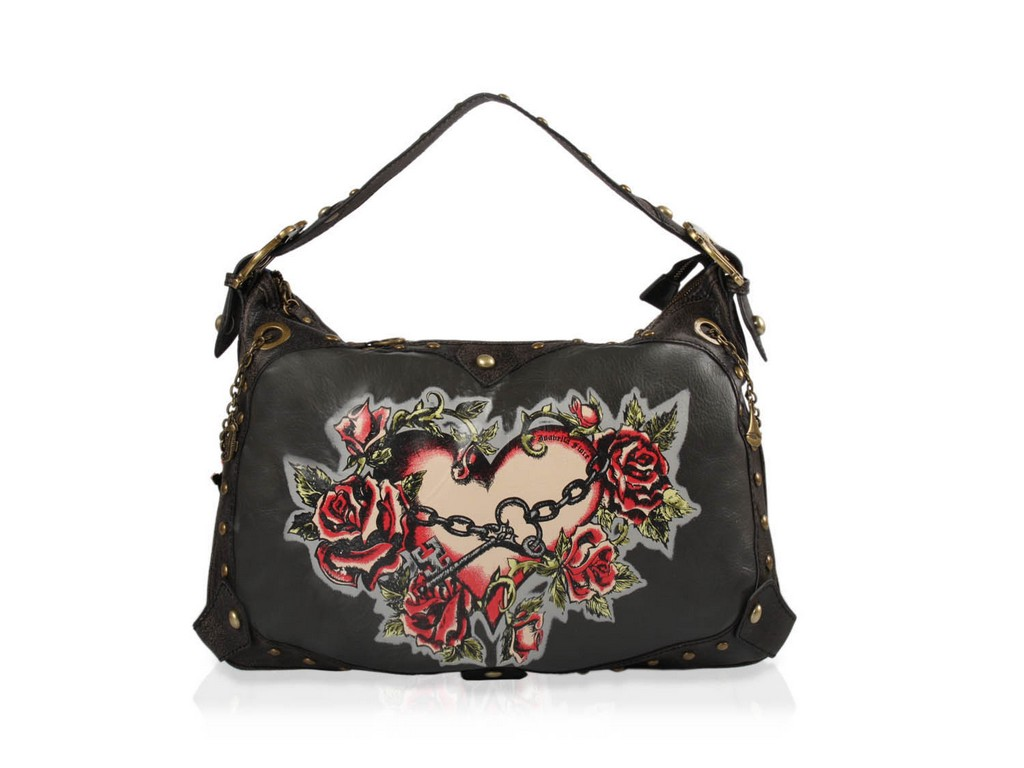 popular designer handbag ed hardy handbag designer canvas handbag