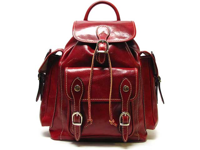 Similiar Red Leather Backpack Purse Keywords